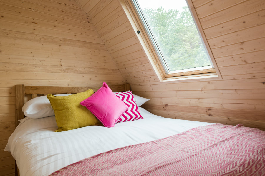 Glamping Pod Bedroom