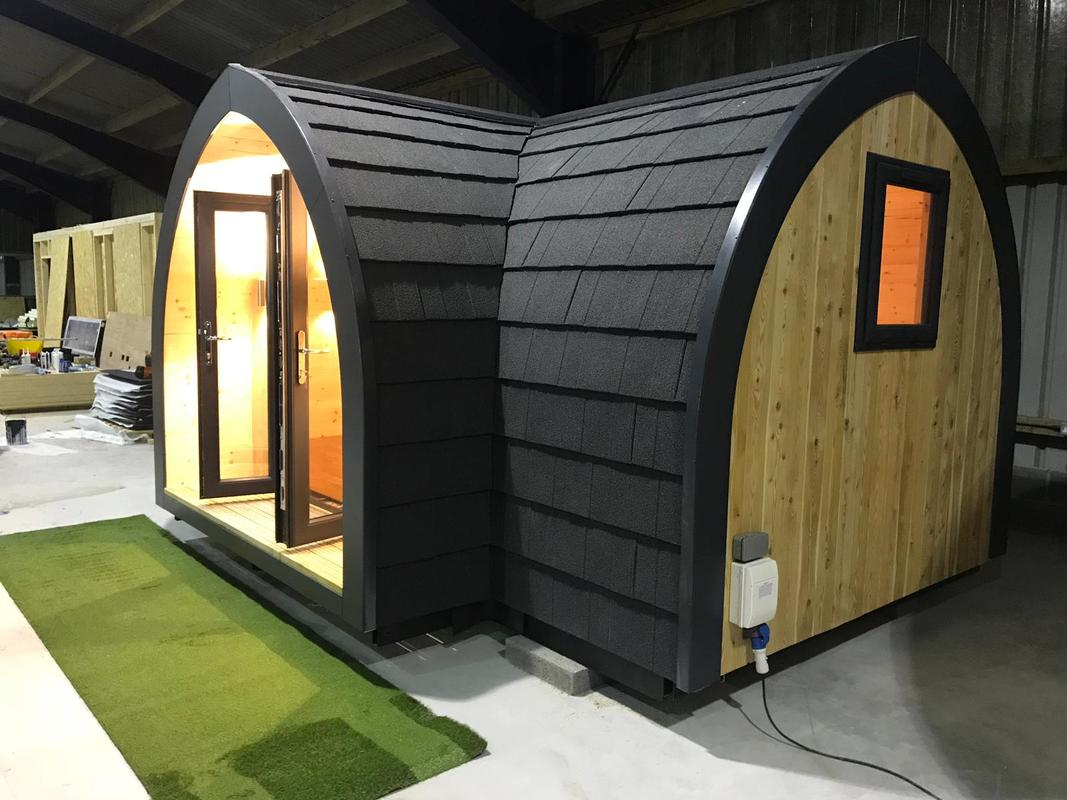 Stylish Glamping Pod with built in veranda